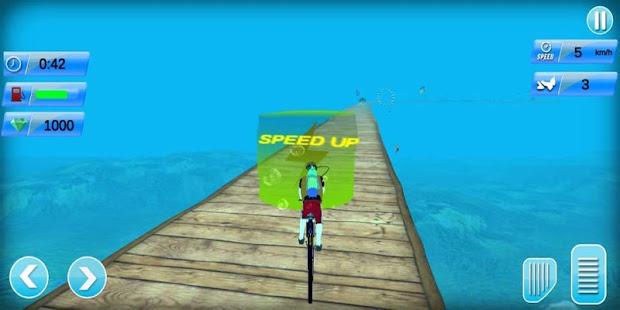 underwater bike riding