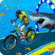Underwater Cycling Stunt Adventure